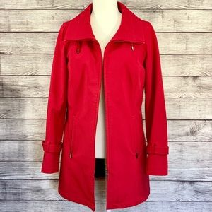 Kristen Blake Red Car Coat